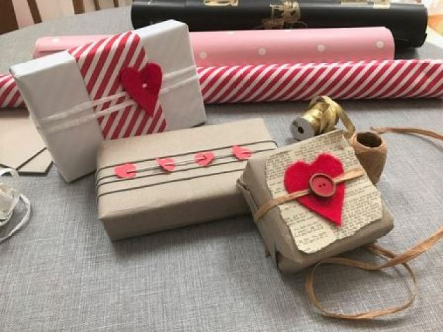 Valentine's Day Gift Wrapping Ideas by Kate Beavis