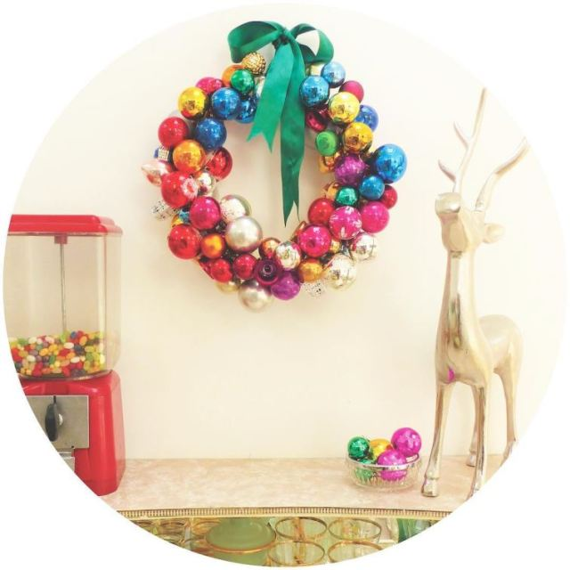 My wreath is up it must be Christmas now! vintagehellip