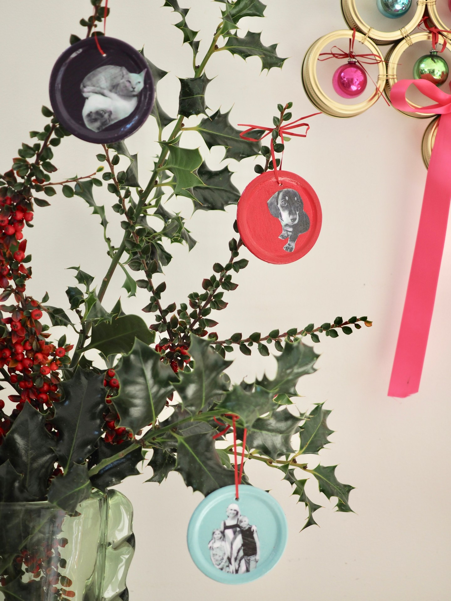 How to make Personalised Christmas Tree Baubles with Kilner Jar Seals