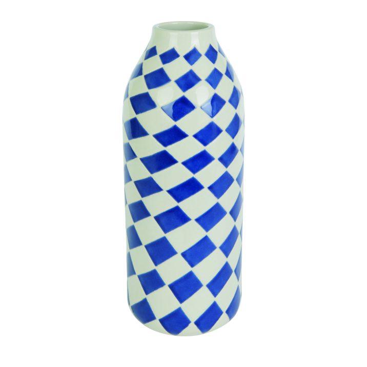Bue Geometric vase by Habitat