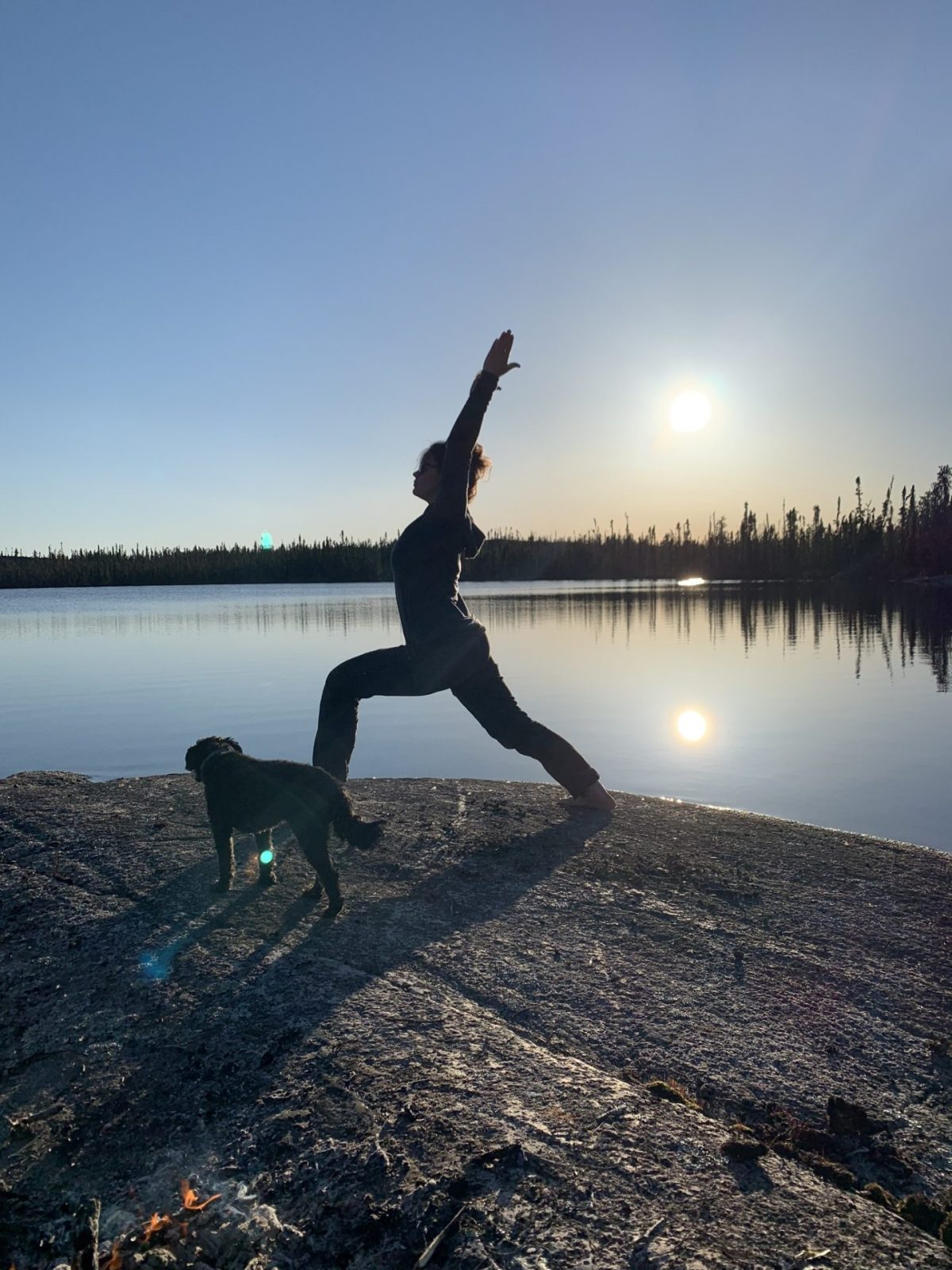 Land and Heart Yoga Teacher Training Warrior One Yellowknife