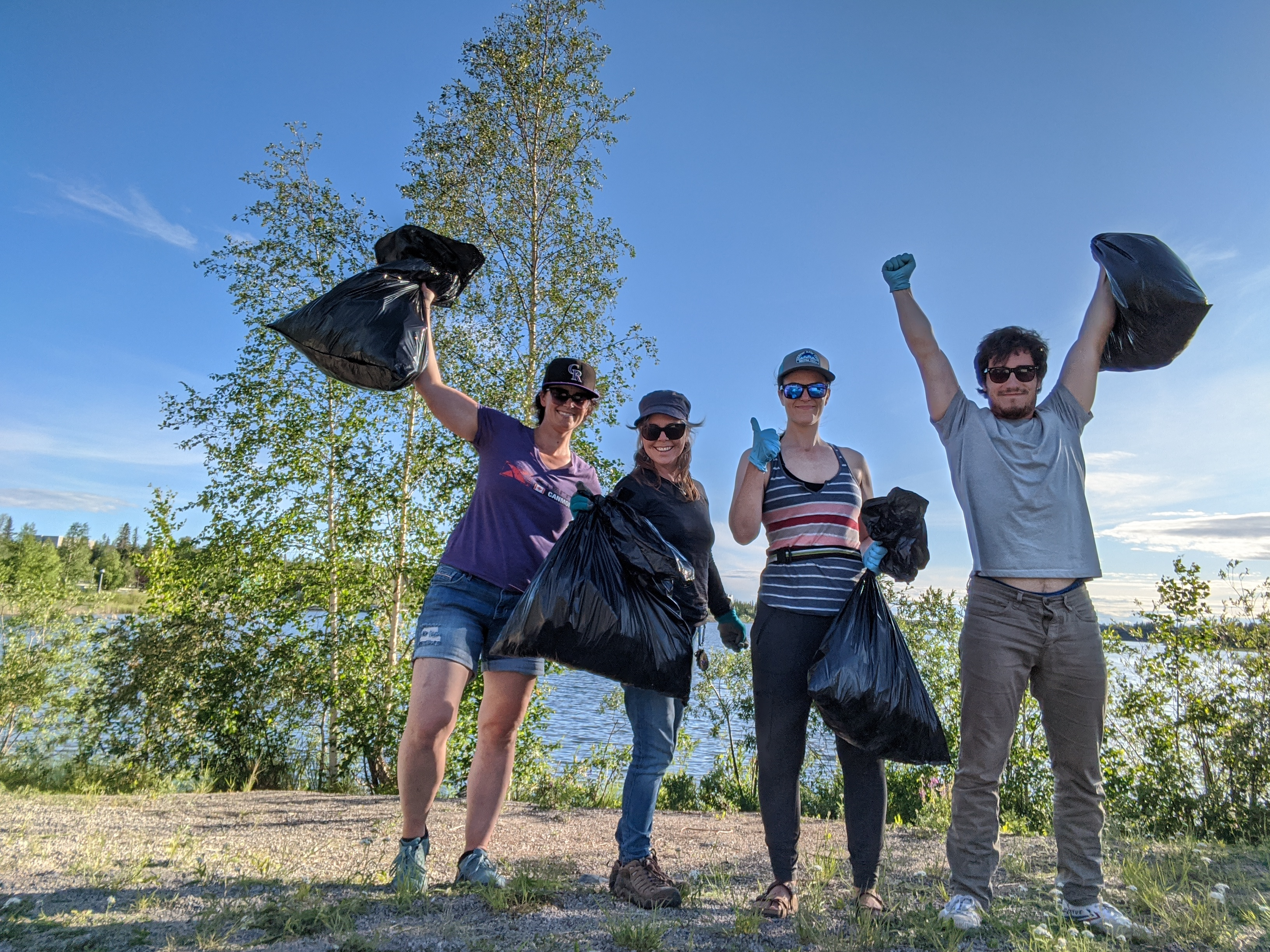 trash collecting in Yellowknife after yoga