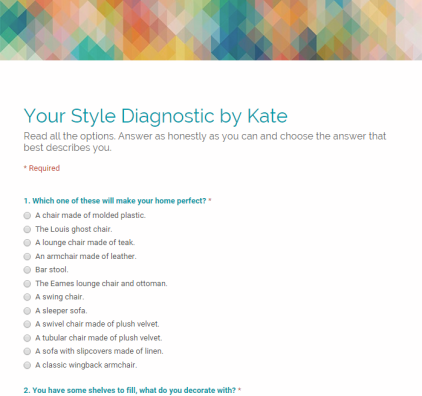 E-DESIGN KATE DWELL IN STYLE QUIZ