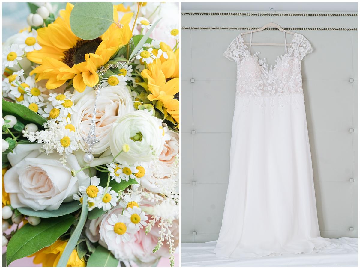 bride's details for Charleston SC wedding day