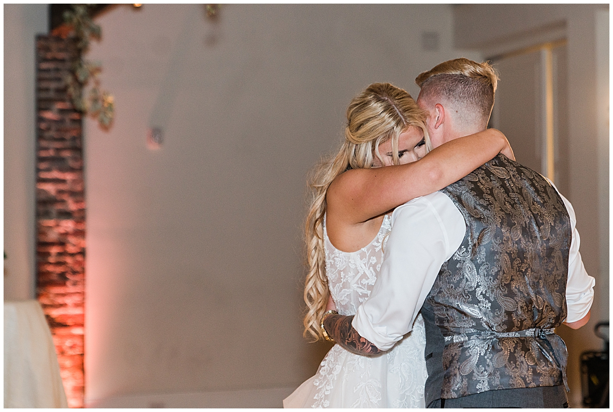 married couple dances during Charleston wedding reception