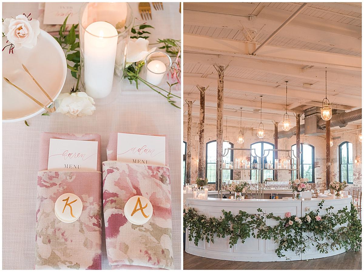 Cedar Room Charleston wedding reception details