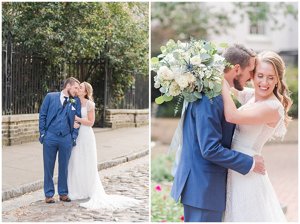 Charleston SC wedding photos of bride and groom