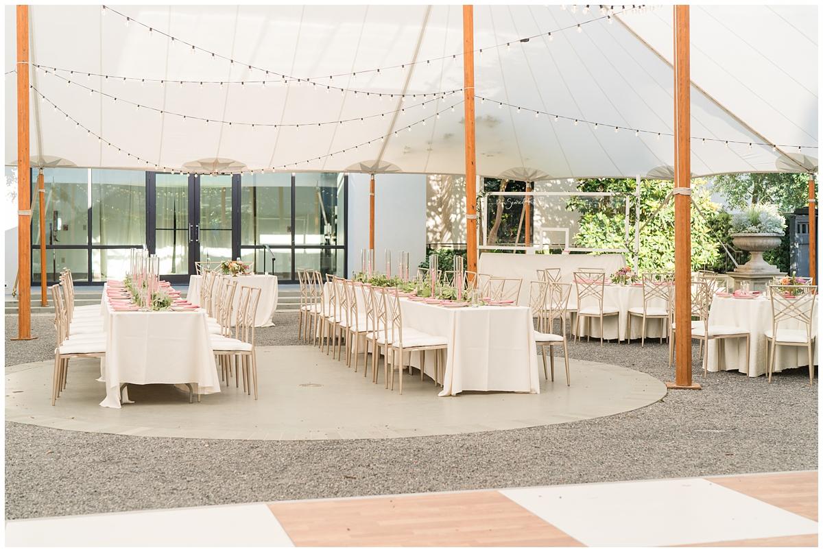 tented wedding reception in Charleston SC