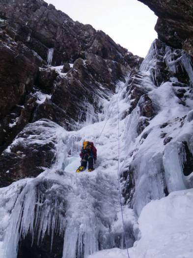 Myself seconding the longer ice pitch on Number 6 Gully