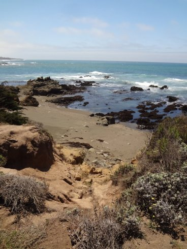 The rugged coast line near Cambira