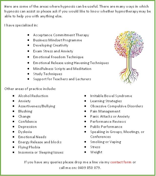 Treatments using Hypno with logo