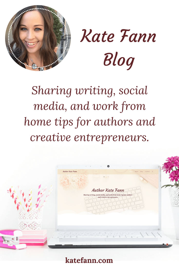 On my blog, I share writing, social media, and work from home tips for authors and creative entrepreneurs.