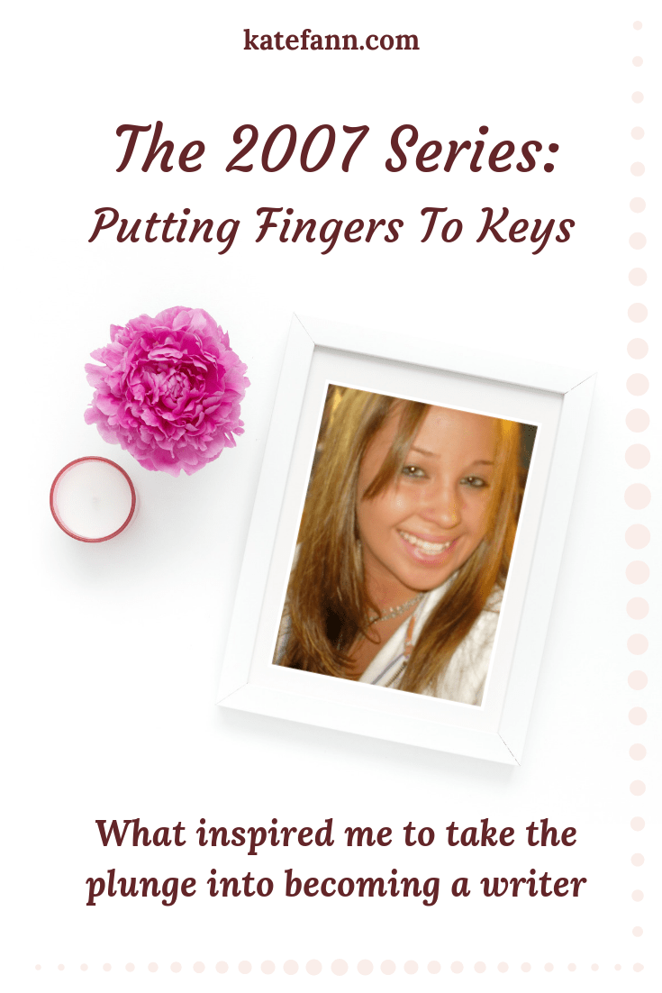In the second installment of the 2007 blog series, I share what inspired me to take the plunge into starting my author journey. It was finally time to put fingers to keys!