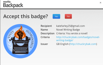 Adding Badges to Backpacks