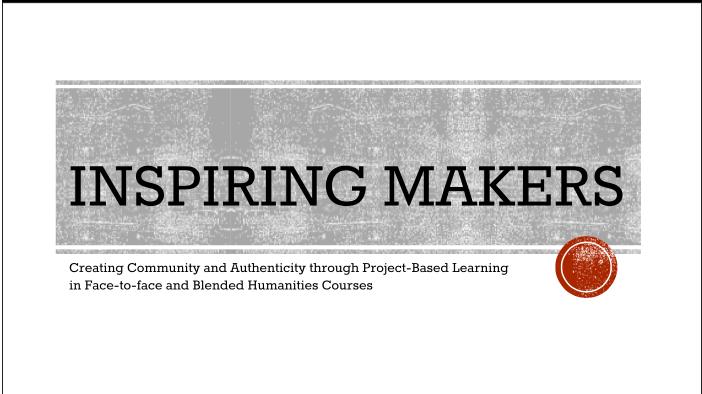 Inspiring Makers, OPID 2016