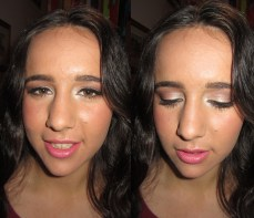 Semi formal makeup & hair