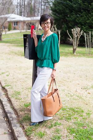 Kate Style Petite l Petite Ann Taylor Loft Green