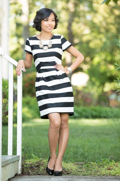 Kate Style Petite, H&M, Black and White Stripes