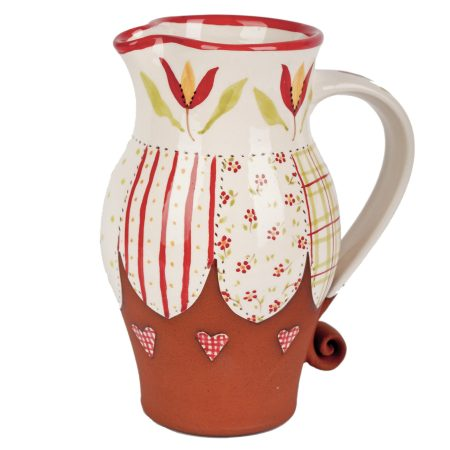 A photo of a handmade ceramic 1/2 Pint Patchwork Jug