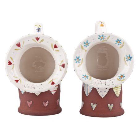 A photo of two handmade ceramic Large Salt Pigs
