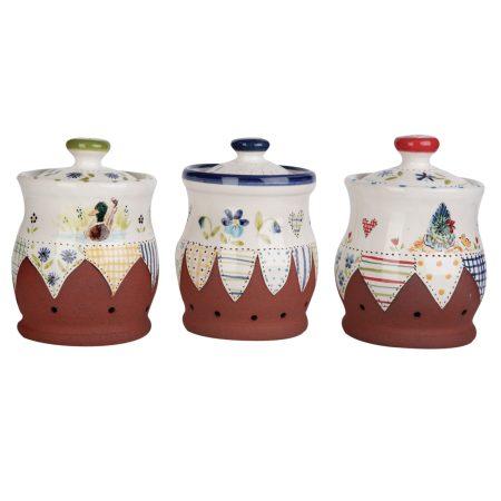 A photo of a selection of handmade ceramic Storage jars