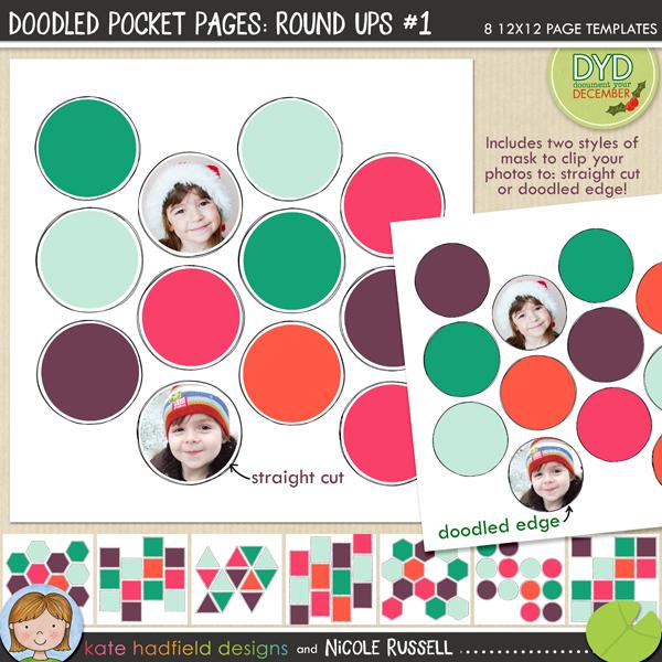 Doodled Pocket Pages Round Ups 1