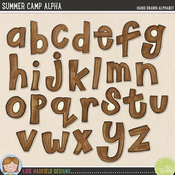 Summer Camp alphabet