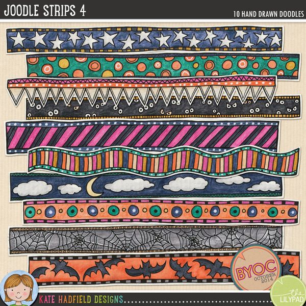 Joodle Strips 4 by Kate Hadfield