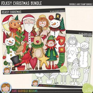 Folksy Christmas Bundle by Kate Hadfield