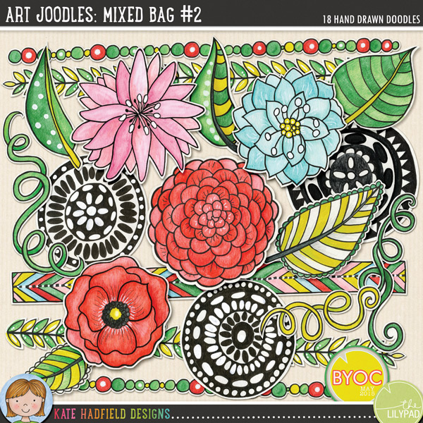 Art Joodles: Mixed Bag #2 by Kate Gadfield Designs
