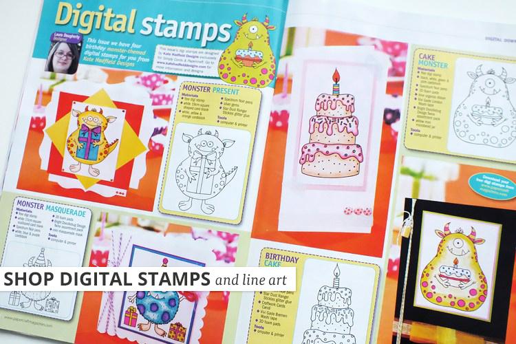 Kate Hadfield Designs: digital stamps magazine spread
