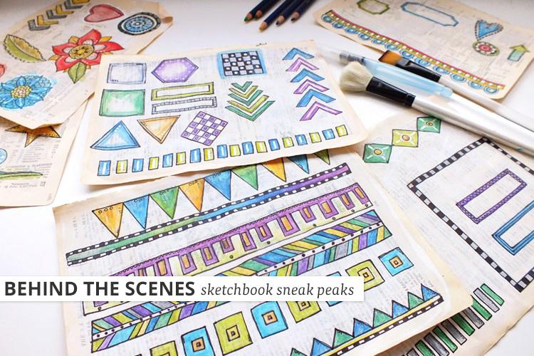 Kate Hadfield Designs: Art Joodles work in progress
