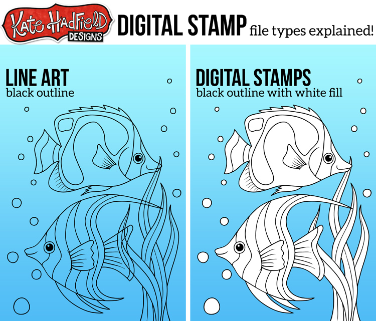 Digital Stamps file types explained by Kate Hadfield Designs