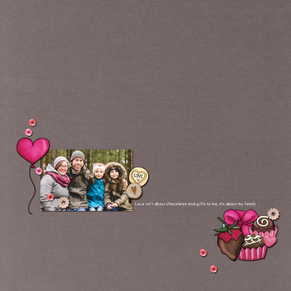 Kate Hadfield Designs creative team My Favourite Valentines layout by Jude
