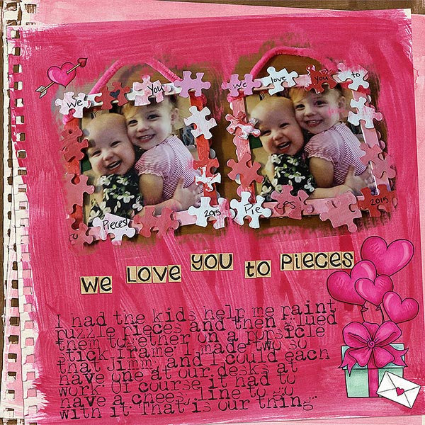 Kate Hadfield Designs creative team My Favourite Valentines layout by Kristina