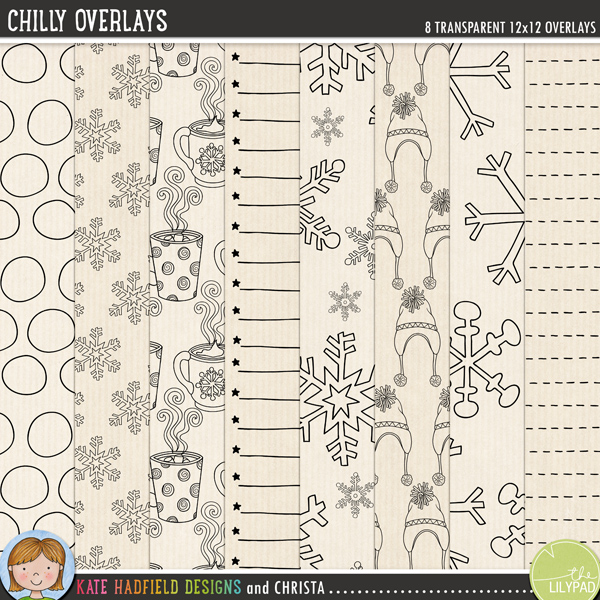 Chilly Overlays by Kate Hadfield and Christa