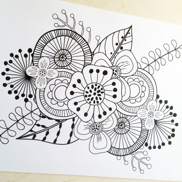 Art Joodle colouring pages | Kate Hadfield Designs