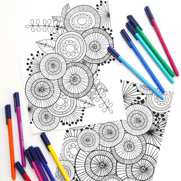 Art Joodle Colouring Pages - Kate Hadfield Designs