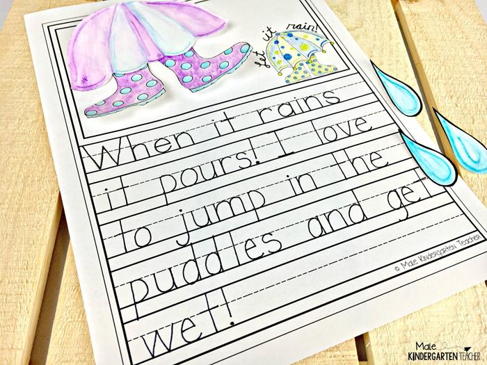Spring Writing project by Male Kindergarten Teacher | Kate Hadfield Designs