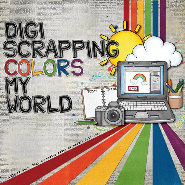 "Kate Hadfield Designs Creative Team ""Scrap Like Dagi"" FREE template | Digital scrapbook layout by Keela"