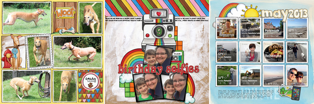 What is digital scrapbooking - a beginners guide - scrapbook layouts