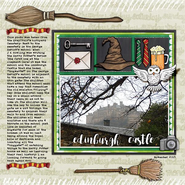 "Kate Hadfield Designs Creative Team ""Scrap Like Berniek"" FREE template | Digital scrapbook layout by Christa"