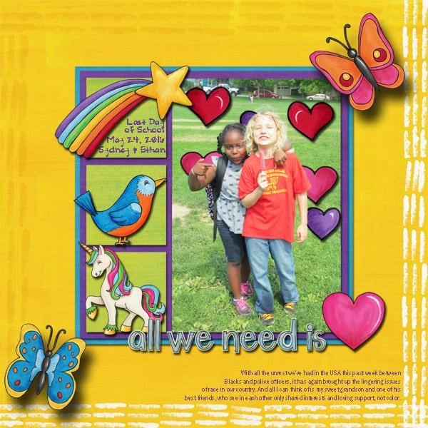 "Kate Hadfield Designs Creative Team ""Scrap Like Berniek"" FREE template | Digital scrapbook layout by Jenni"