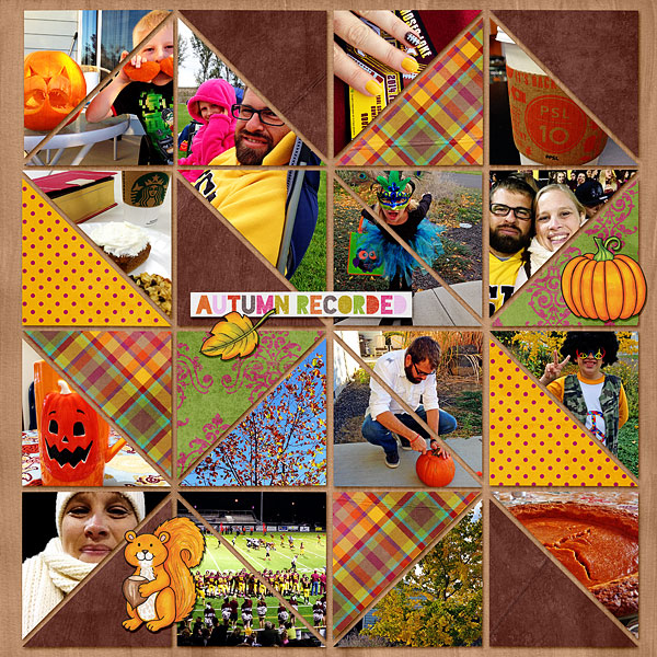 """Kate Hadfield Designs Creative Team """"Autumn & Fall"""" Favourites: Digital scrapbook layout by Bethany"""