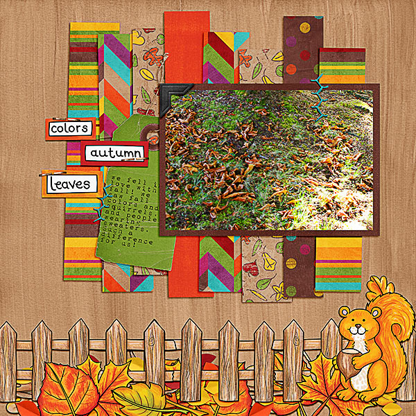 "Kate Hadfield Designs Creative Team ""Autumn & Fall"" Favourites: Digital scrapbook layout by Kristina"