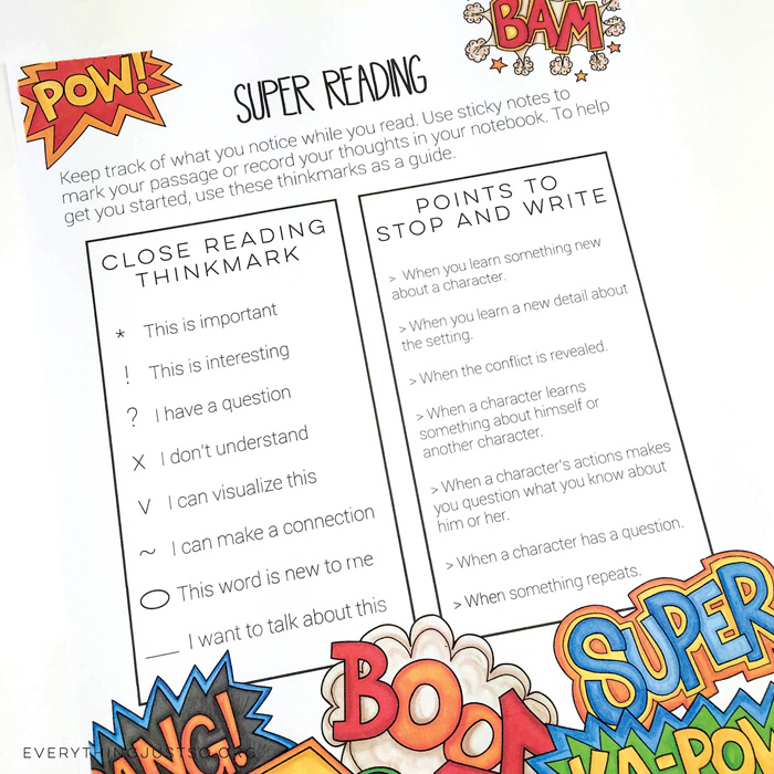 Literature activity pack from Everything Just So | #katehadfielddesigns