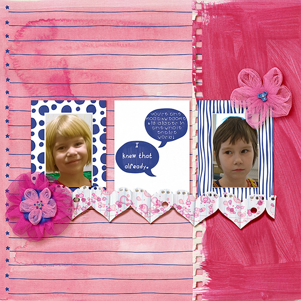 "Hadfield Designs Creative Team ""Scrap Like Lorry"" FREE digital scrapbooking template! 