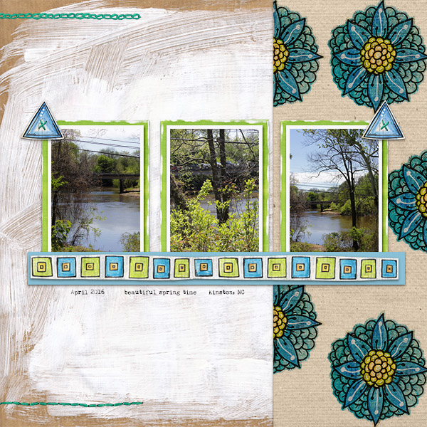 "Kate Hadfield Designs Creative Team ""Scrap Like Lorry"" FREE digital scrapbooking template! 