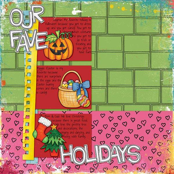 "Kate Hadfield Designs Creative Team ""Scrap Like Lorry"" FREE digital scrapbooking template! | Scrapbook layout by Lorry"