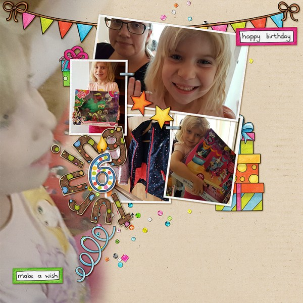 "Kate Hadfield Designs Creative Team ""January 2017"" FREE digital scrapbooking template! 